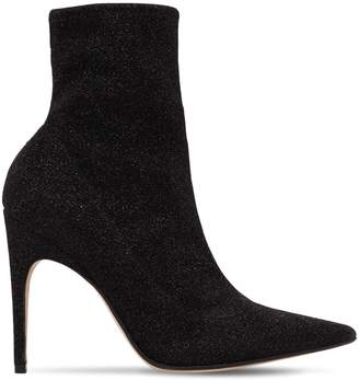 Sergio Rossi 105mm Stretch Lurex Ankle Boots