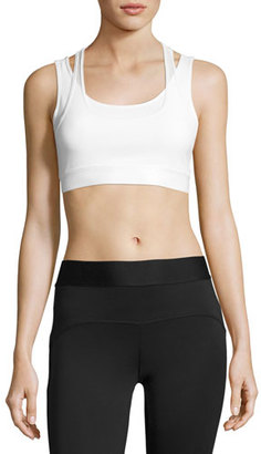 Heroine Sport Racing Layered Sports Bra, White $95 thestylecure.com