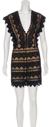 Nightcap Clothing Lace Short Sleeve Romper