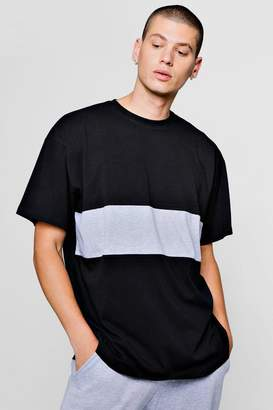boohoo Oversized Colour Block T-Shirt