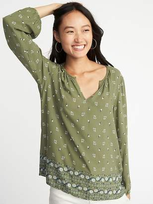 Old Navy Relaxed Lightweight Printed Blouse for Women