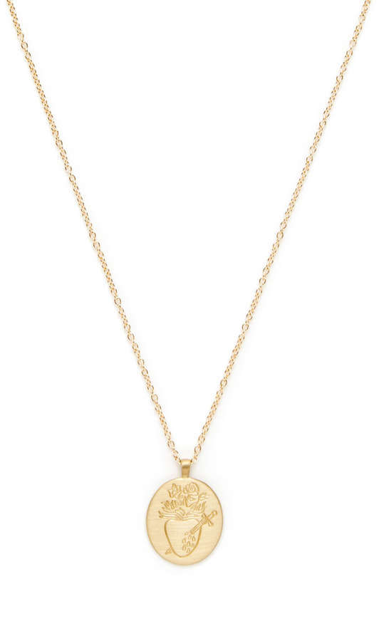 Gold Heart With Tears Engraved Pendant Necklace