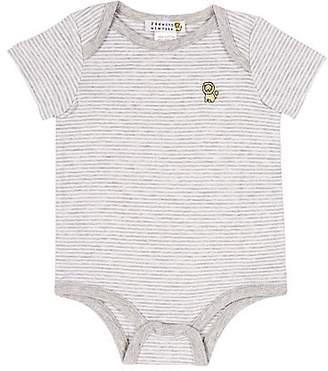Barneys New York Infants' Striped Bodysuit - Gray