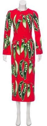Dolce & Gabbana 2018 Pea Print Dress w/ Tags