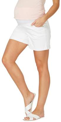 Dorothy Perkins Maternity White Under Bump Shorts
