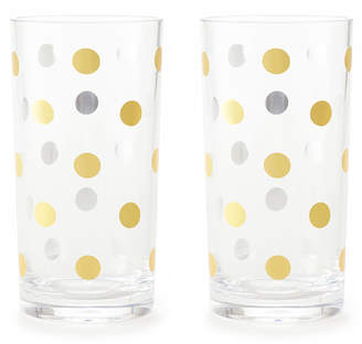 Kate Spade gold dots acrylic highball glasses, set of 2
