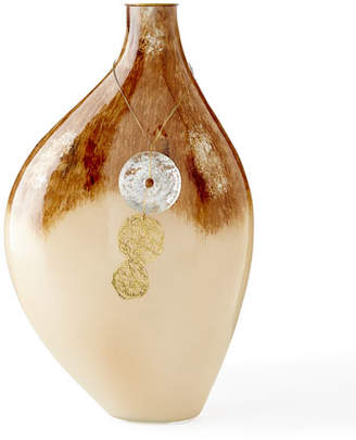 John-Richard Collection Ovoid Terra Vase with Hanging Ornament