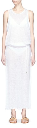 Vitamin A 'Island' mesh back linen maxi dress $155 thestylecure.com