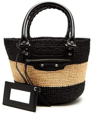 Balenciaga Panier Xs - Womens - Black Stripe