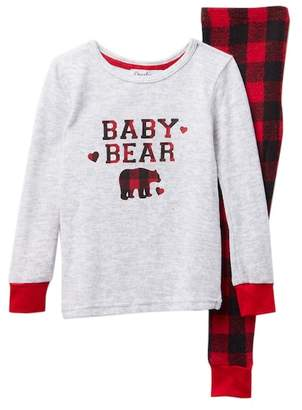 Dearfoams Baby Bear Pajama Set (Toddler Boys & Little Boys)