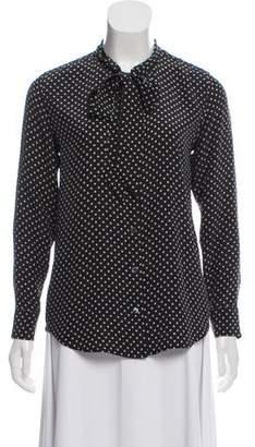 Kate Moss x Equipment Silk Printed Top