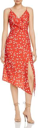 Finders Keepers Mae Asymmetric Floral Midi Dress