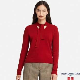 Uniqlo WOMEN IDLF Cashmere Ribbon Tie Sweater