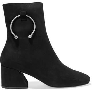 DORATEYMUR - Nizip Embellished Suede Ankle Boots - Black
