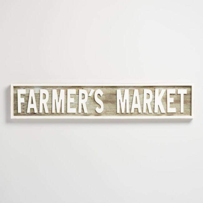 Farmer's Market Wood Sign
