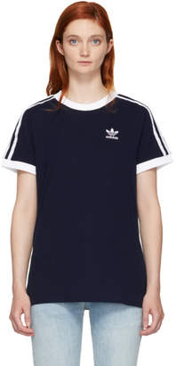 adidas Navy 3-Stripes T-Shirt