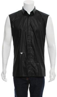 Christian Dior Sleeveless Button-Up Shirt