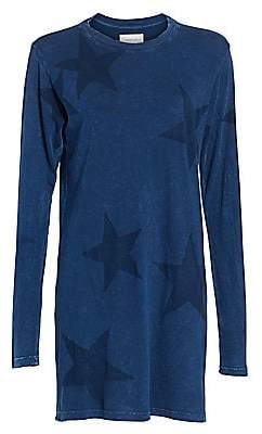 Current/Elliott Women's Breatnik Star-Print Long-Sleeve Shift Dress