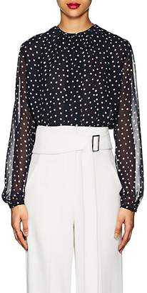 Derek Lam Women's Polka Dot Silk Georgette Blouse
