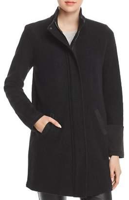 Karl Lagerfeld Paris Faux-Suede Trimmed Coat