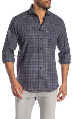 Toscano Long Sleeve Checkered Sport Shirt