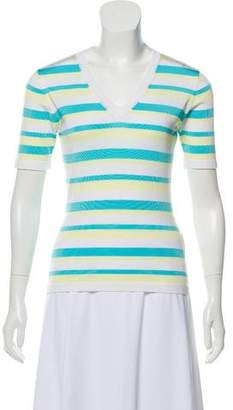 Bruno Manetti Short Sleeve V-Neck Sweater