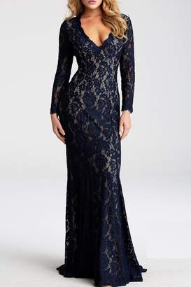 Jovani Long Sleeve Gown