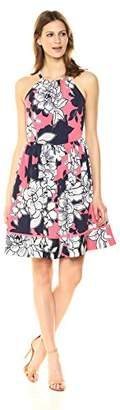 Vince Camuto Women's Floral Halter Fit Flare Dress