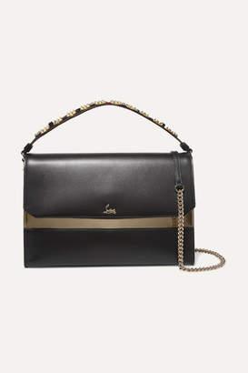 Christian Louboutin Loubiblues Studded Leather Shoulder Bag - Black