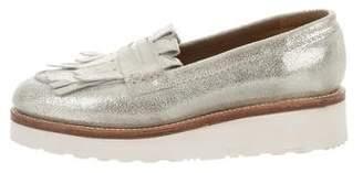 Grenson Metallic Platform Loafers
