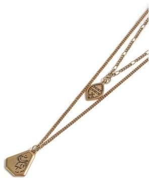 Topman Mens Gold Pendant Necklace*
