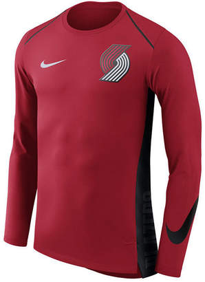 Nike Men's Portland Trail Blazers Hyperlite Shooter Long Sleeve T-Shirt