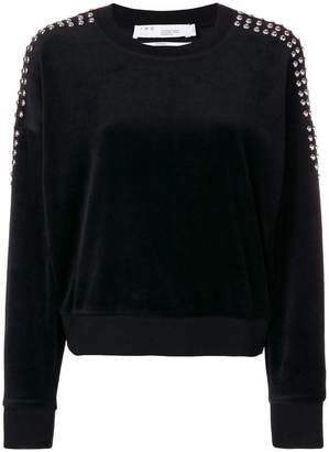 IRO studded sleeve sweatshirt