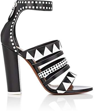 Women's Geometric Leather Multi-Strap Sandals