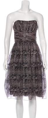 Anna Sui Silk Strapless Dress
