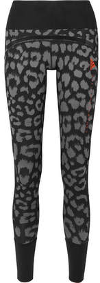 adidas by Stella McCartney Parley For The Oceans Believe This Comfort Leopard-print Stretch Leggings - Black