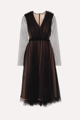 Jason Wu Collection - Point D'esprit Tulle Midi Dress - Black