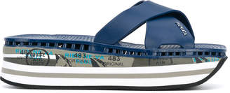 Premiata platform flip flops