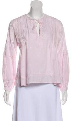 Ulla Johnson Long Sleeve Pleated Top