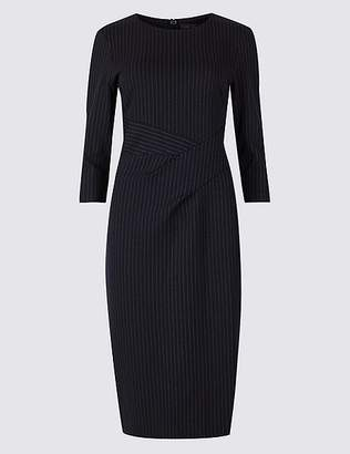 Marks and Spencer Striped 3/4 Sleeve Bodycon Dress