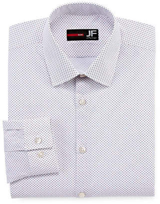 Jf J.Ferrar Stretch Mens Spread Collar Long Sleeve Stretch Dress Shirt