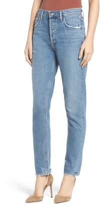 A Gold E AGOLDE Jamie High Waist Classic Fit Nonstretch Denim Jeans