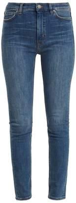 MiH Jeans Bridge High Rise Skinny Jeans - Womens - Dark Blue