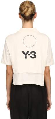 Y-3 Stacked Logo Cropped Jersey T-Shirt