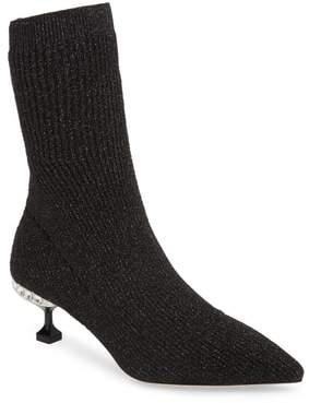 Miu Miu Crystal Embellished Sock Bootie