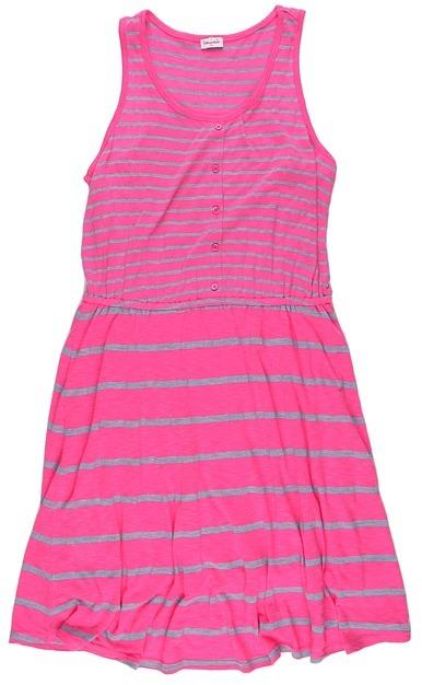 Splendid Littles Chambray Mixed Stripe Dress (Big Kids) (Posy) - Apparel