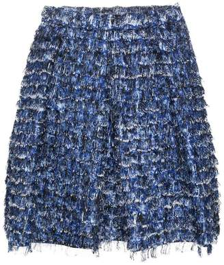 Proenza Schouler fringed pleated mini skirt