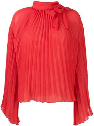 Philosophy di Lorenzo Serafini pleated rose blouse