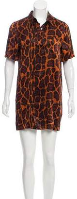 Equipment Leopard-Printed Silk Dress