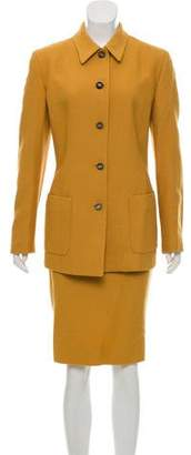 Salvatore Ferragamo Wool Skirt Suit